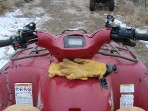 My four wheeler...I will not ride anything less than a 700; I need the power!