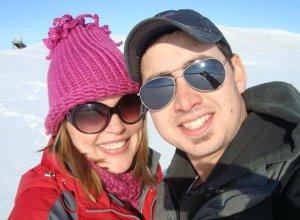 John and me on the frozen Missouri River last winter