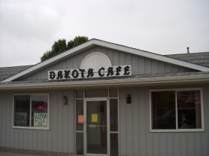We dined at Dakota Cafe.  Two hot ham and cheese sandwiches, two bowls of homemade chicken noodle soup, a basket of fries, a Diet Coke, and a Mountain Dew for a grand total of $17.00!  I love small town South Dakota.
